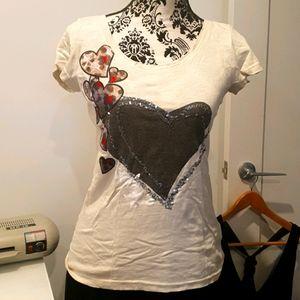 Desigual size 10 heart T shirt